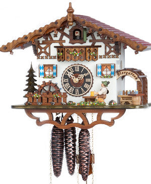 "Hones 10"" 1 Day Chalet Music 665M Cuckoo Clock"
