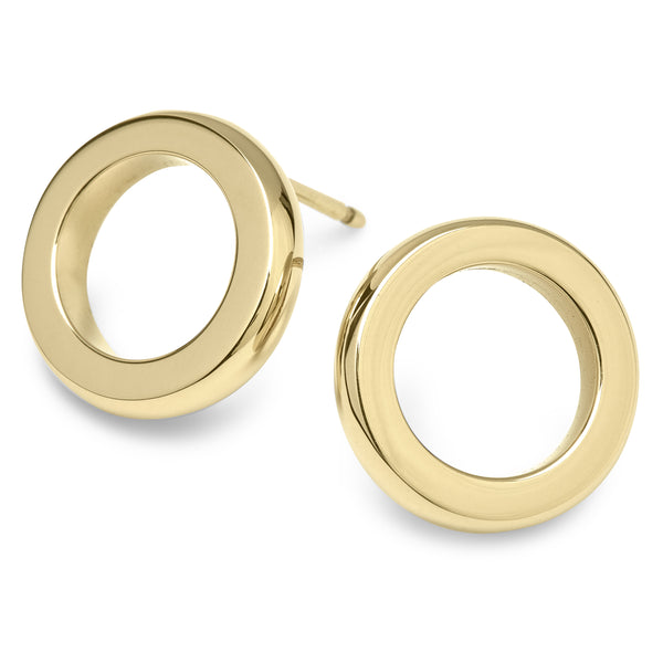 DUETTO BUTTON EARRINGS - 18K YELLOW GOLD