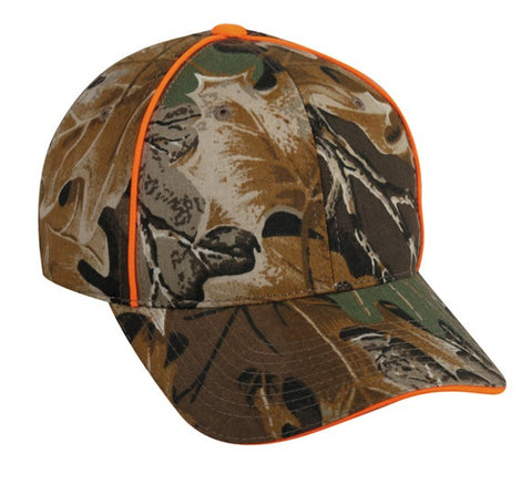 Camo Hat with Blaze Piping - Hunting Camo Caps -Sport-Smart.com