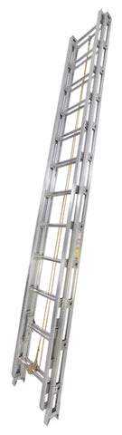 Series 500-C 2-Section Aluminum Tubular Rail Fire Ladders
