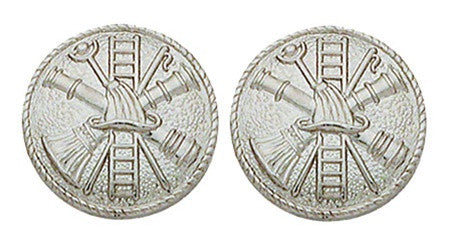 Fire Department Scramble Closed Collar Pin - Pair