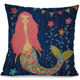 Throw Pillow Cover | Mermaid Brights  - 4 styles - Seahorse Mansion