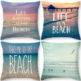 Throw Pillow Covers | Beach Love  - 4 styles - Seahorse Mansion