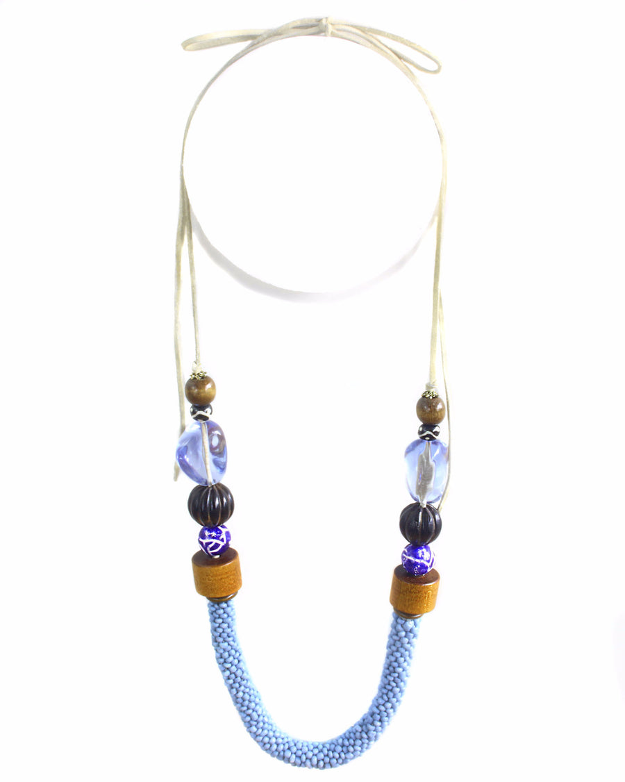 Oksana Tribal Necklace - SKY [LIMITED]