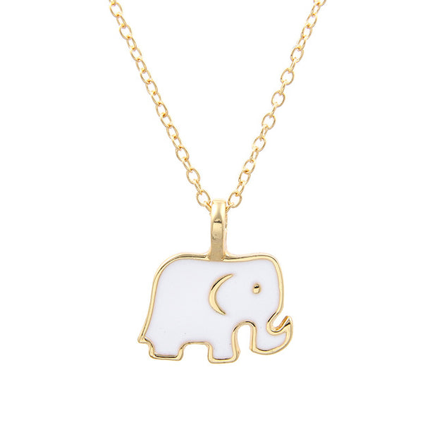 Elephant Necklace with Gold Outline (2 colors)