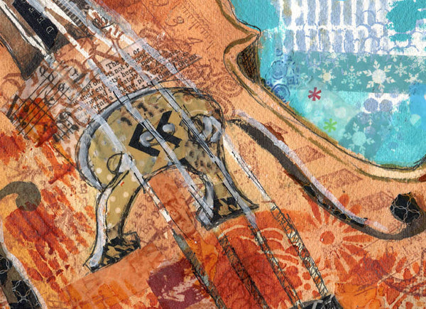 Cello Charm, Fine Art Print