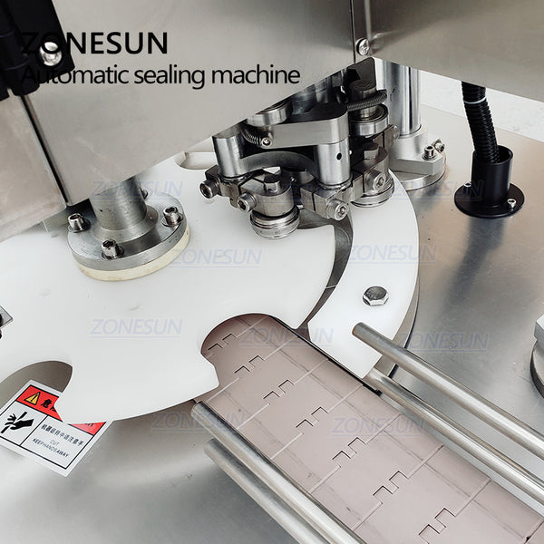 ZONESUN 110V/220V Automatic Electric Can Sealing Machine Tinplate Sealer Double Motors Plastic Cans Capping Machine - ZONESUN TECHNOLOGY LIMITED