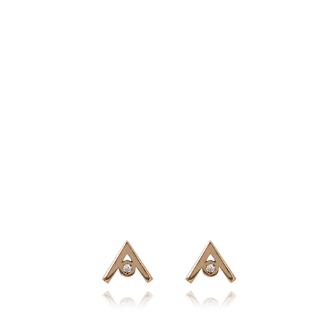 19.2K Gold Diamond Earrings