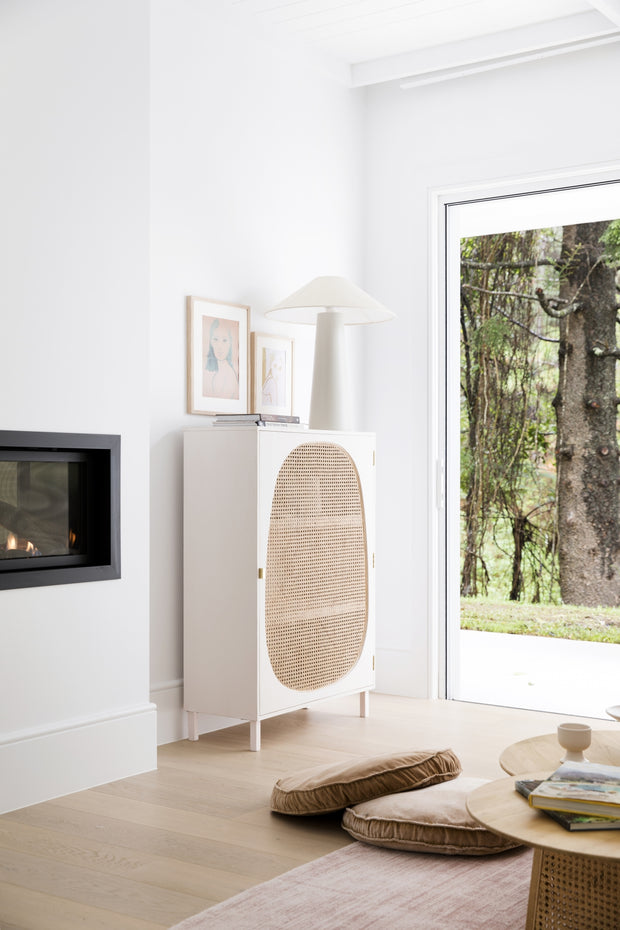 HK Living | Webbing Single Door Cabinet White | House of Orange Melbourne