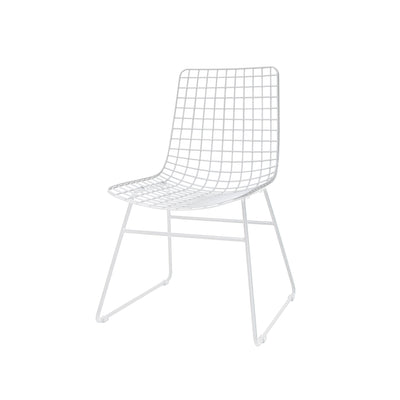 HK Living | Metal Wire Chair White | House of Orange Melbourne