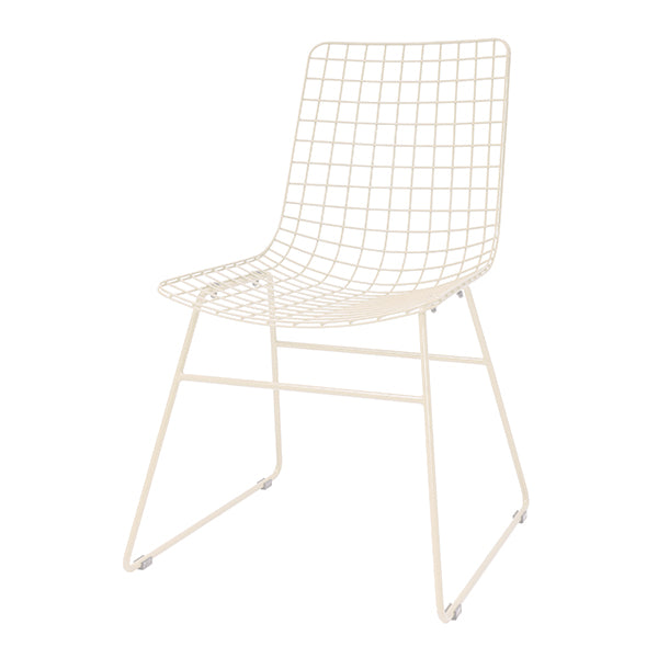 HK Living | Metal wire chair creme | House of Orange Melbourne