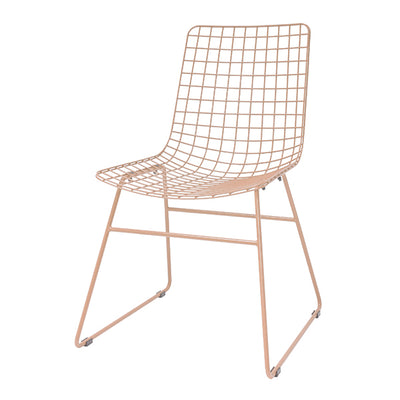 HK Living | Metal wire chair peach | House of Orange Melbourne