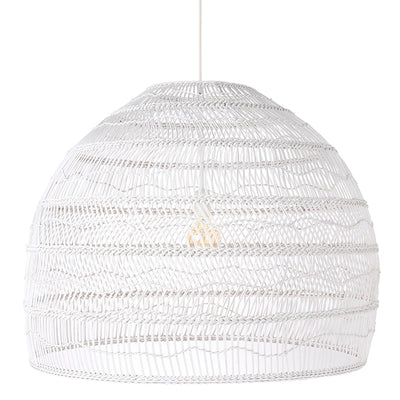HK Living | White Wicker Hanging Ball Lamp Large | House of Orange Melbourne