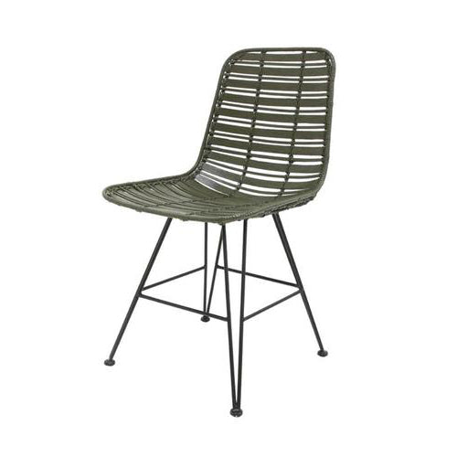HK Living | Rattan dining chair olive green hokaido | House of Orange Melbourne