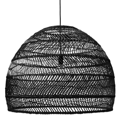 HK Living | Wicker hanging lamp large black | House of Orange Melbourne