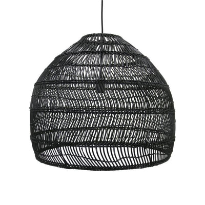 HK Living | Wicker hanging lamp medium round black | House of Orange Melbourne
