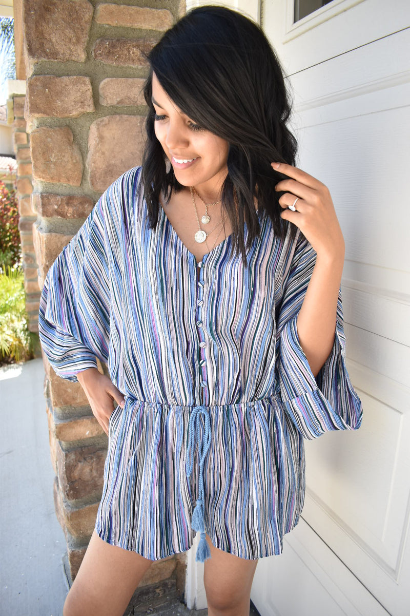 Striped Summer Vibes Romper