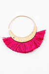 Mini Fringe Hoops - Fuchsia - Sweetly Striped