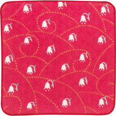 Yumeji Takehisa Gauze Pile Handkerchief | Lily of the valley Red