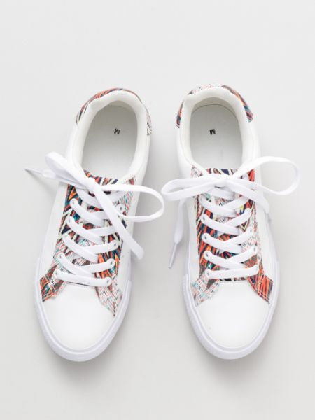 Ethnic Pattern Print Sneakers