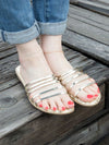 Tile Pattern Sole Sandals
