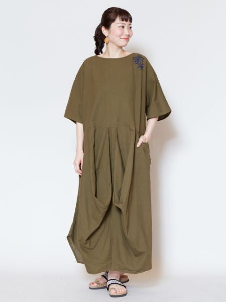 Nepali Cotton Plain Kaftan Dress