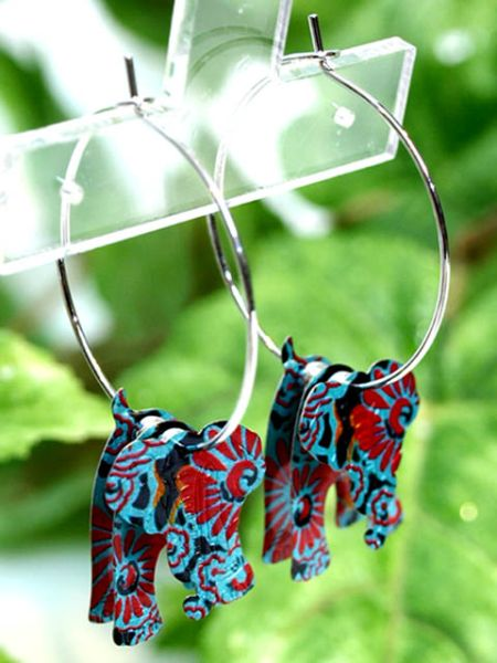 Colorful Animal Hoop Earrings