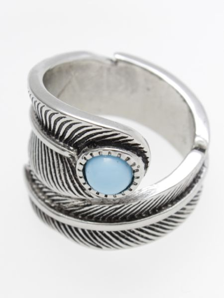 Native American Jewelry Inspired Feather Ring