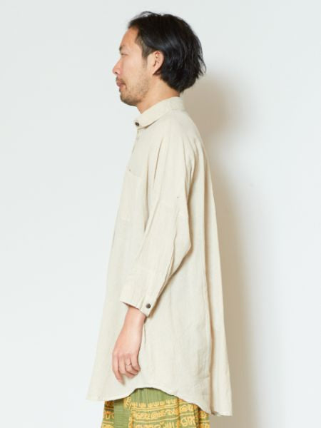 Plain Nepali Cotton Shirt Kaftan
