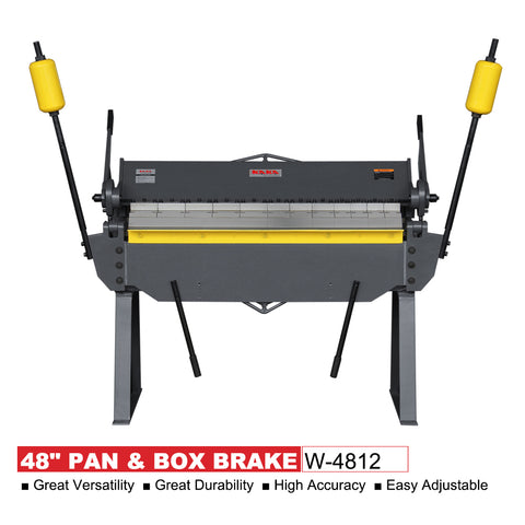 "KAKA industrial W-4812 48"" PAN & BOX BRAKE"