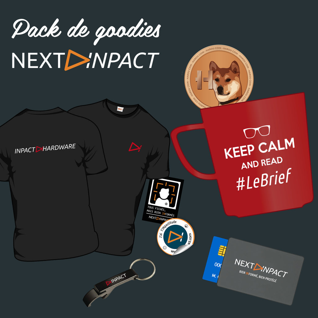 Pack de goodies INpact Hardware - #LeBrief (2018)