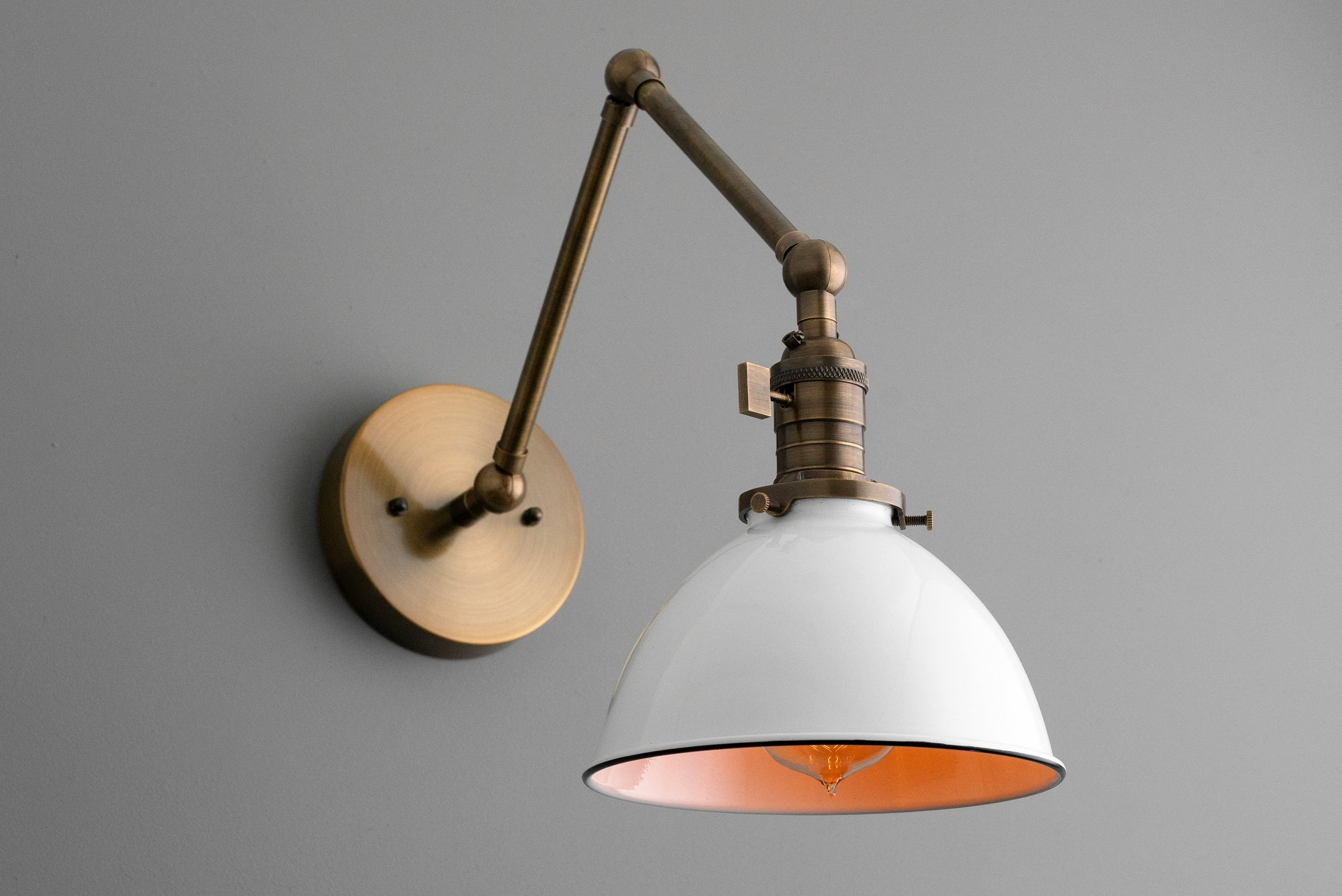 Articulating Light - Farmhouse Lighting - Swing Arm Sconce ...