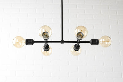 Edison Chandelier - Industrial Lighting - Light Fixture - Black Chandelier - Dinning Room Light - Farmhouse Lighting - Industrial Chic Lamp