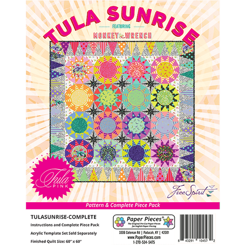Tula Pink Sunrise - Pattern and Complete Paper Pieces EPP Pack