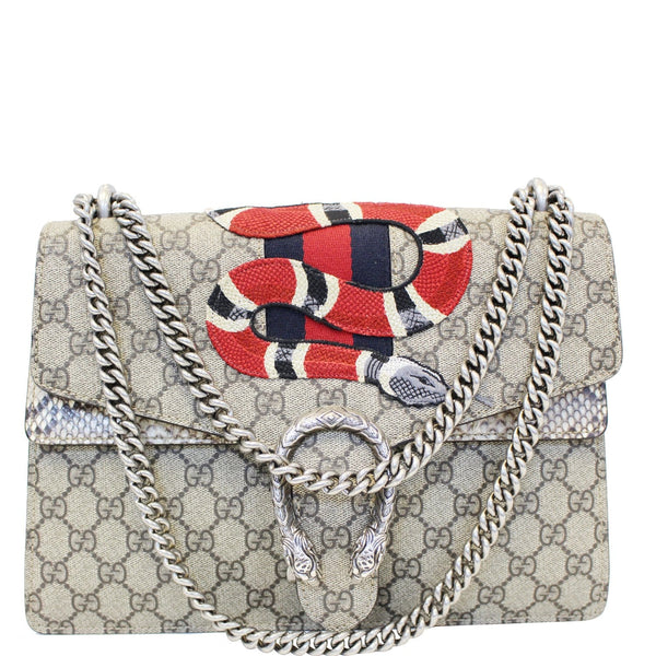 GUCCI Dionysus Medium GG Supreme Embroidered Shoulder Bag 400235 Beige-US