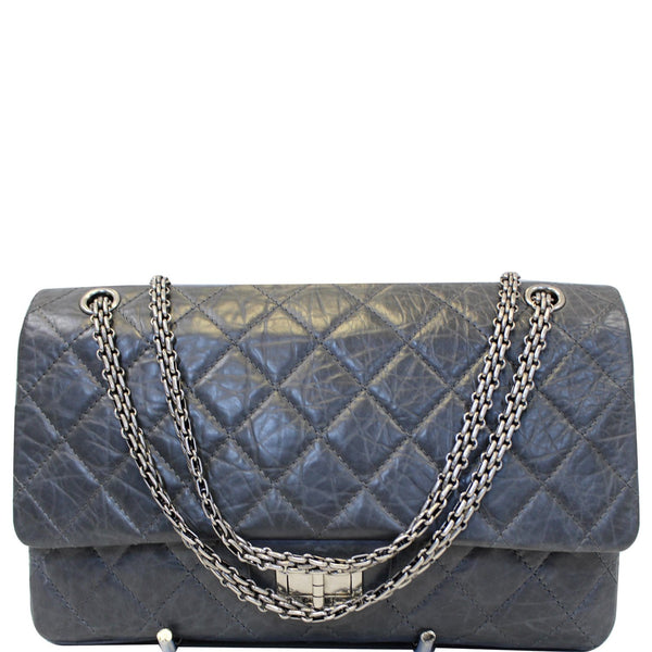 CHANEL 2.55 Reissue Mademoiselle Lock Calfskin Leather Shoulder Bag-US