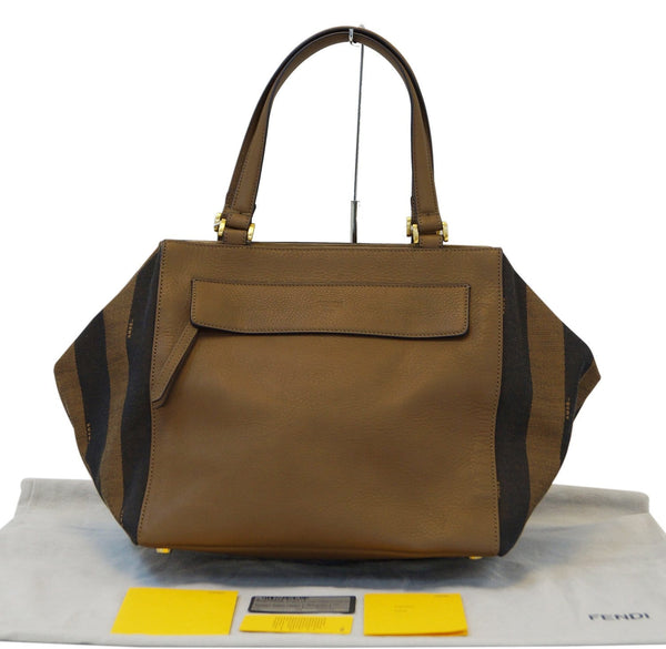 Fendi Pecan Canvas Leather - Fendi Shoulder Bag