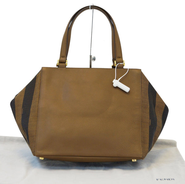 Fendi Pecan Canvas Leather - Fendi Shoulder Bag - fendi strap