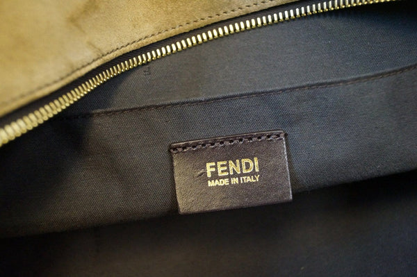 Fendi Pecan Canvas Leather - Fendi Shoulder Bag - fendi logo