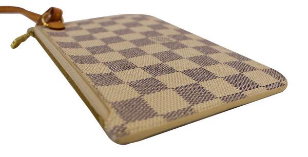 Authentic LOUIS VUITTON Neverfull Damier Azur Pochette Wristlet Clutch E3257