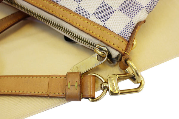 LOUIS VUITTON Damier Azur Siracusa GM Shoulder Handbag