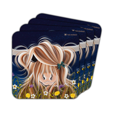 Jennifer Hogwood, The McMoos, Evening Highland - Coasters