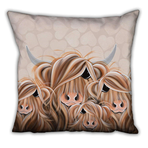 Jennifer Hogwood, The McMoos, Fa-Moo-Ly Forever - Suede Cushions
