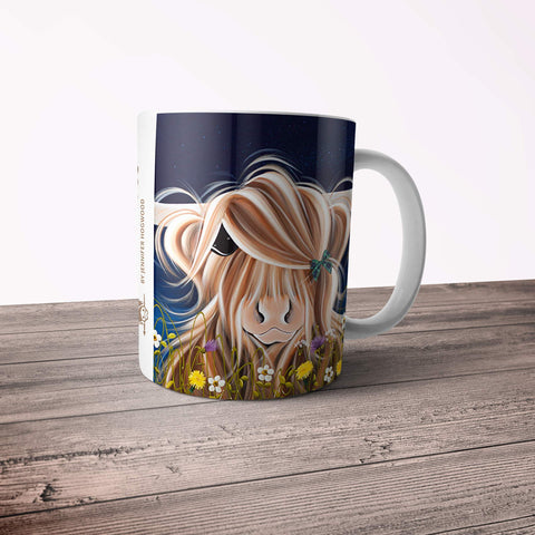 Jennifer Hogwood, The McMoos, Evening Highland - 11oz Ceramic Mug