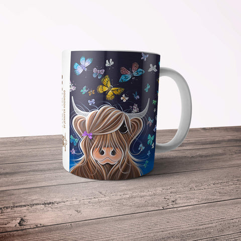 Jennifer Hogwood, The McMoos, Night Flight - 11oz Ceramic Mug