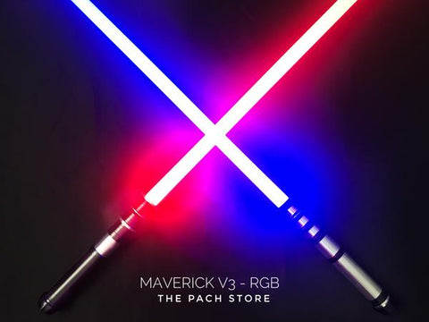 "The Ultimate Maverick v3 RGB - 1"" Duel Worthy, Color changing, Affordable custom Saber"