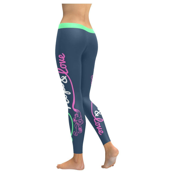 Faith Hope & Love Floral Pattern Soft Breathable Christian UPF40+ Women Leggings-NeatFind.net