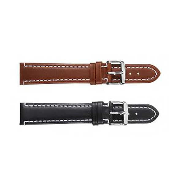 308L Stitched Oil Leather Watch Strap