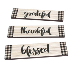 Grateful Thankful Blessed Art Planks Garden Path