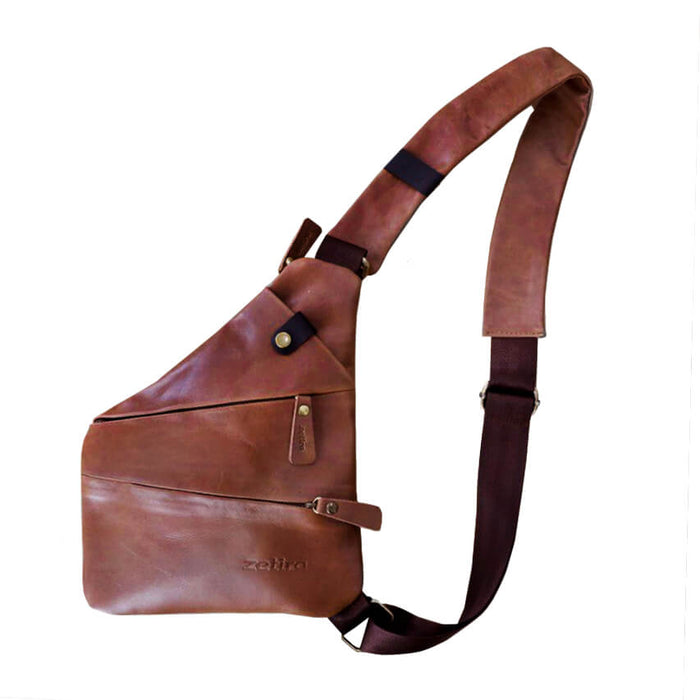 Zetira Hamish Genuine Leather Crossbody Bag
